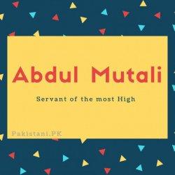 Abdul Mutali