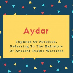 Aydar Name Meaning Topknot Or Forelock, Referring To The Hairstyle Of Ancient Turkic Warriors