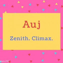 Auj name Meaning Zenith. Climax..