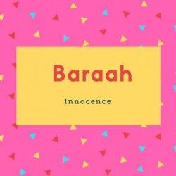 Baraah Name Meaning Innocence