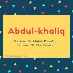 Abdul-khaliq