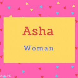 Asha name Meaning Woman.