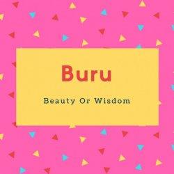 Buru Name Meaning Beauty Or Wisdom
