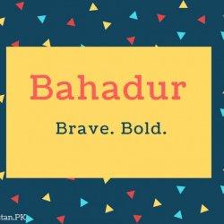 Bahadur Name Meaning Brave. Bold.