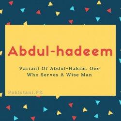 Abdul-hadeem