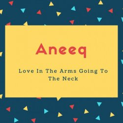 Aneeq Name Meaning Love In The Arms Going To The Neck