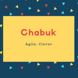 Chabuk Name Meaning Agile, Clever