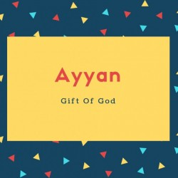 Ayyan Name Meaning Gift Of God