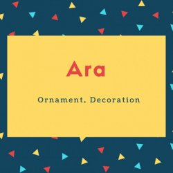 Ara Name Meaning Ornament, Decoration