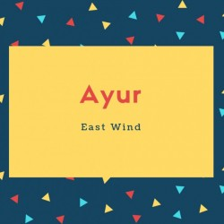 Ayur Name Meaning East Wind