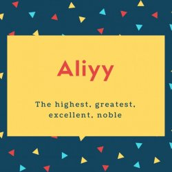 Aliyy Name Meaning The highest, greatest, excellent, noble