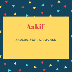 Aakif Name Meaning Given,Attached.