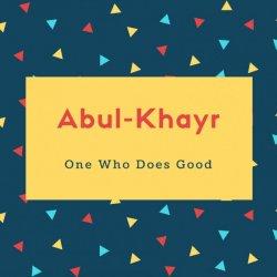 Abul-Khayr