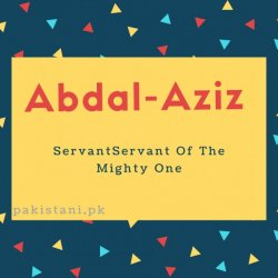 Abdal-Aziz name meaning Servant Of The Mighty One.