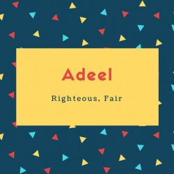 Adeel Name Meaning Righteous, Fair