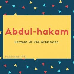 Abdul-hakam