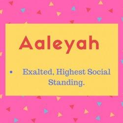 Aaleya Name Meaning