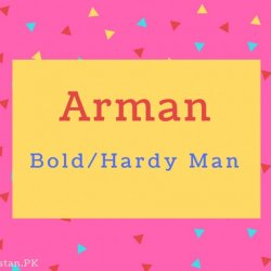 Arman name Meaning Bold%2FHardy Man