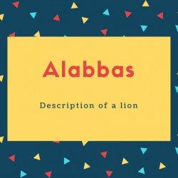 Alabbas Name Meaning Description of a lion