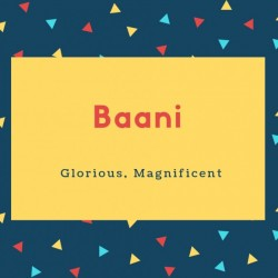 Baani Name Meaning Glorius Magnificient