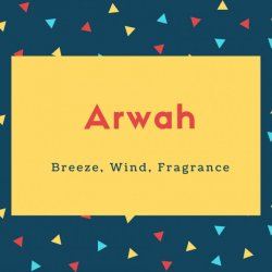 Arwah Name Meaning Breeze, Wind, Fragrance