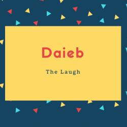 Daieb Name Meaning The Laugh
