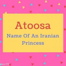 Atoosa name Meaning Name Of An Iranian Princess.