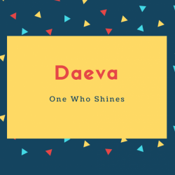 Daeva Name Meaning One Who Shines