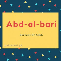 Abd-al-bari name meaning Servant Of Allah
