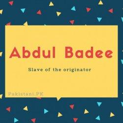 Abdul Badee