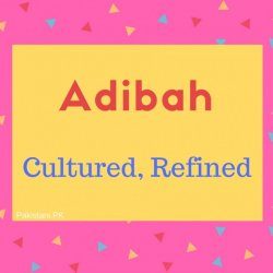 Adibah name meaning Cultured, Refined.
