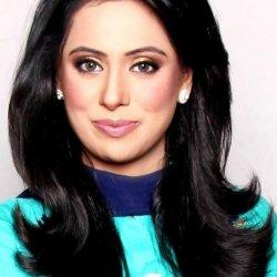 Beautiful Samia liaqat in Blue and Sea Green Dress