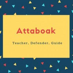 Attaboak Name Meaning Teacher, Defender, Guide