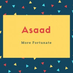 Asaad Name Meaning More Fortunate