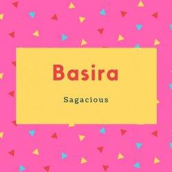 Basira Name Meaning Sagacious