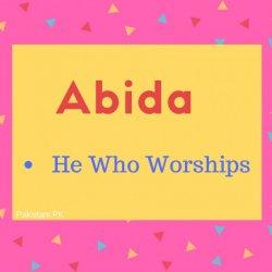 Abida Name Meaning He Who Worships.