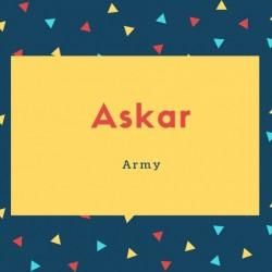 Askar Name Meaning Army