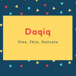 Daqiq Name Meaning Fine, Thin, Delicate
