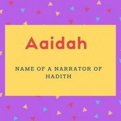 Aaidah Name Meaning
