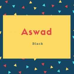Aswad Name Meaning Black