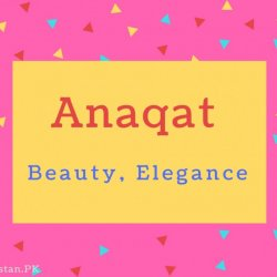 Anaqat Name Meaning Beauty, Elegance