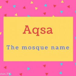 Aqsa Name Meaning The mosque name.
