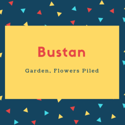 Bustan Name Meaning Garden, Flowers Piled