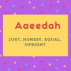 Aaeedah Name Meaning
