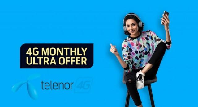 Telenor 4G Monthly Ultra Plus
