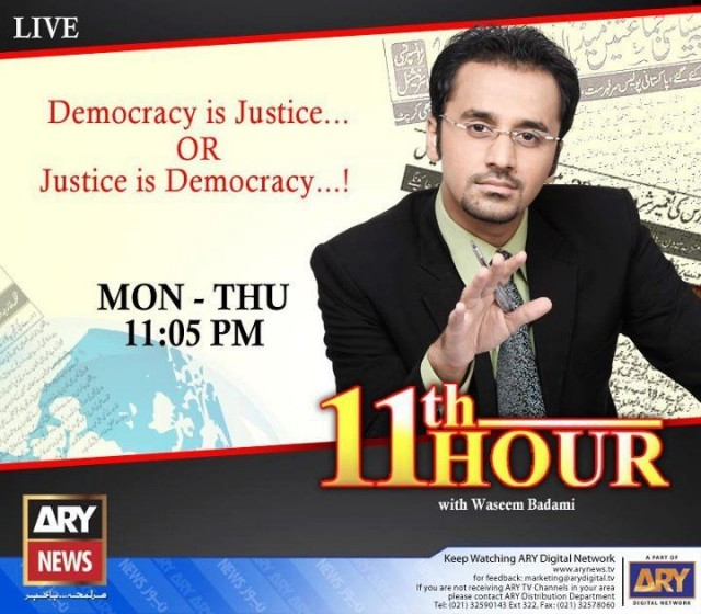 11th Hour With Waseem Badami