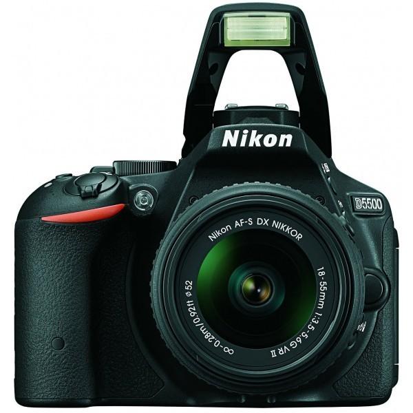 Nikon D5500 with 18-55-mm camera