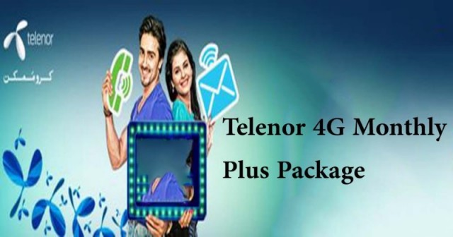Telenor 4G Monthly Plus Package