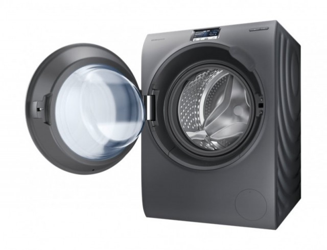 Samsung WW9000H New with Big Crystal Blue Door Washing Machine