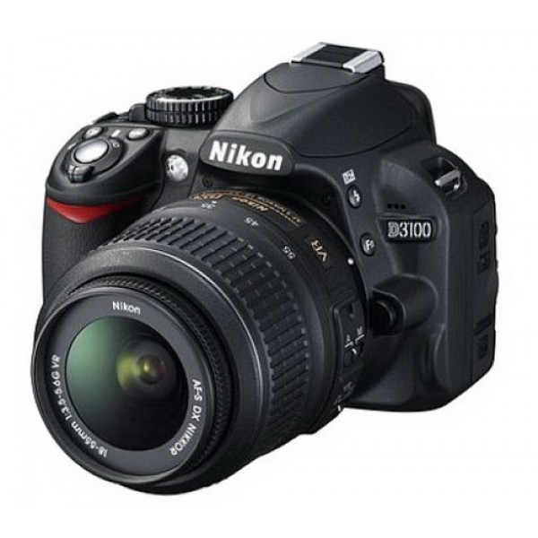 Nikon D3100 With 18-55-mm camera